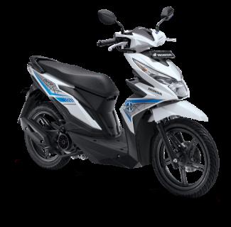 All New Honda BeAT eSP 2017 Warna Putih tipe CW